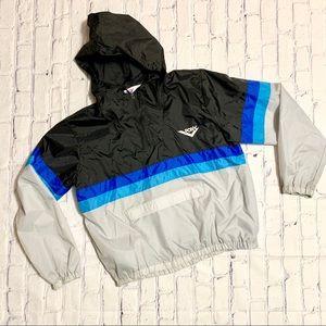Vintage Pony Color Block Windbreaker Hooded Jacket